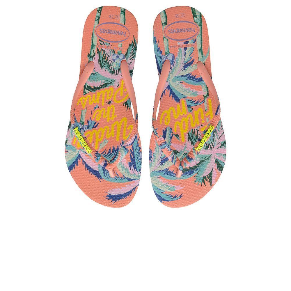 ハワイアナス Havaianas レディース ビーチサンダル シューズ・靴【Slim Summer Sandal】Silk Rose