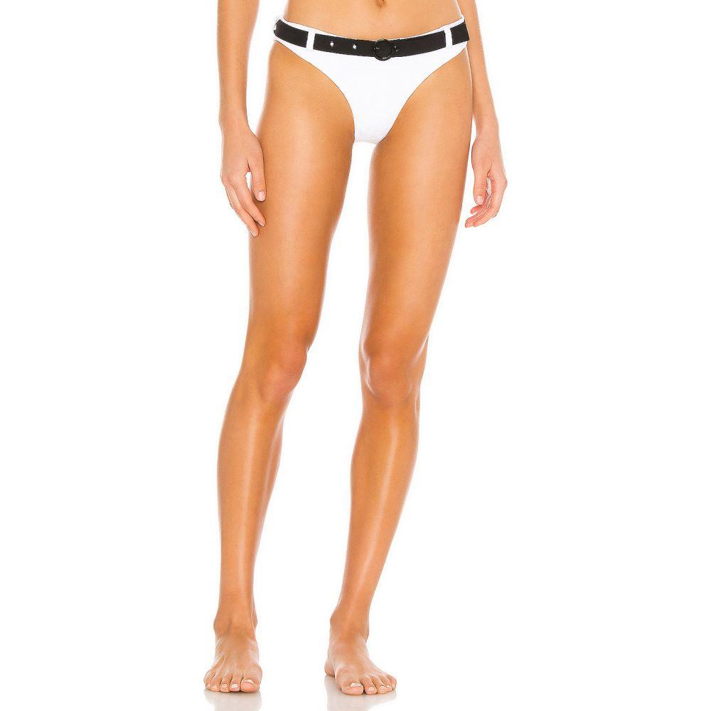 ソリッド&ストライプ Solid & Striped レディース ボトムのみ 水着・ビーチウェア【Rachel Belt Bikini Bottom】White Embossed Floral
