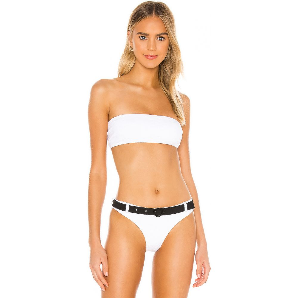 ソリッド&ストライプ Solid & Striped レディース トップのみ 水着・ビーチウェア【Violet Bikini Top】White Embossed Floral