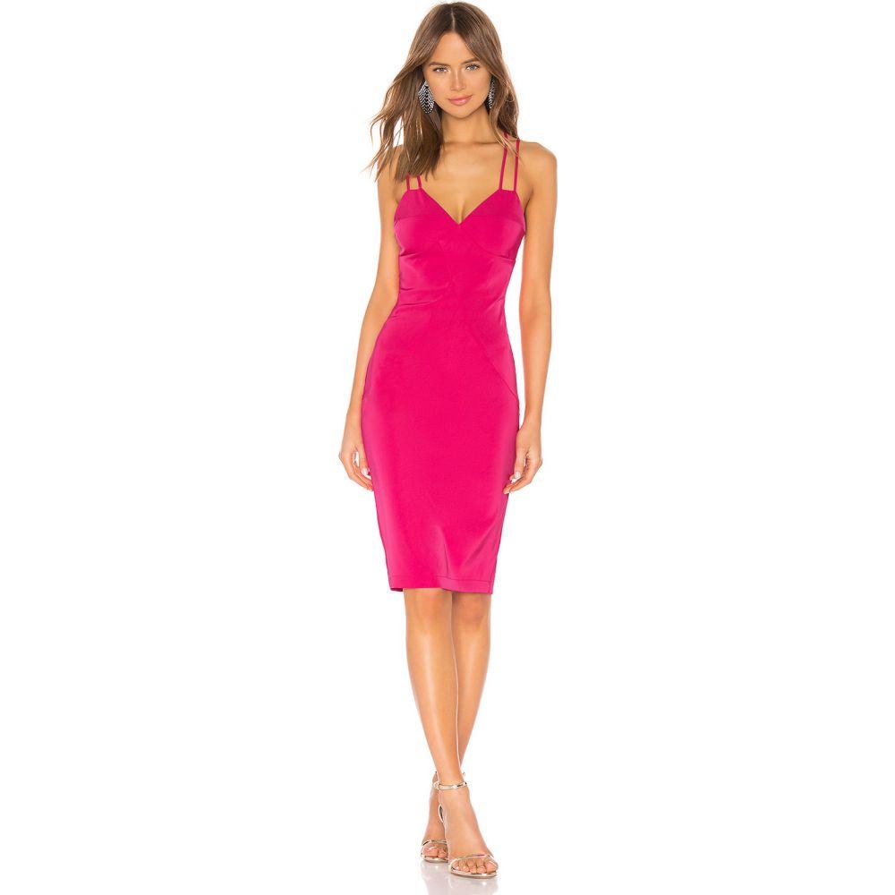 バイ ザ ウェイ by the way. レディース ワンピース ミドル丈 ワンピース・ドレス【Mandi Crossback Midi Dress】Hot Pink