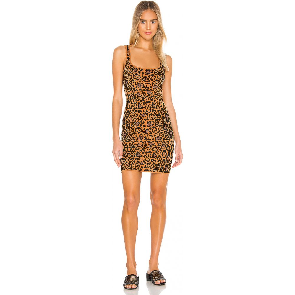 ハウスオブハーロウ1960 House of Harlow 1960 レディース ワンピース ワンピース・ドレス【x REVOLVE Safari Dress】Leopard