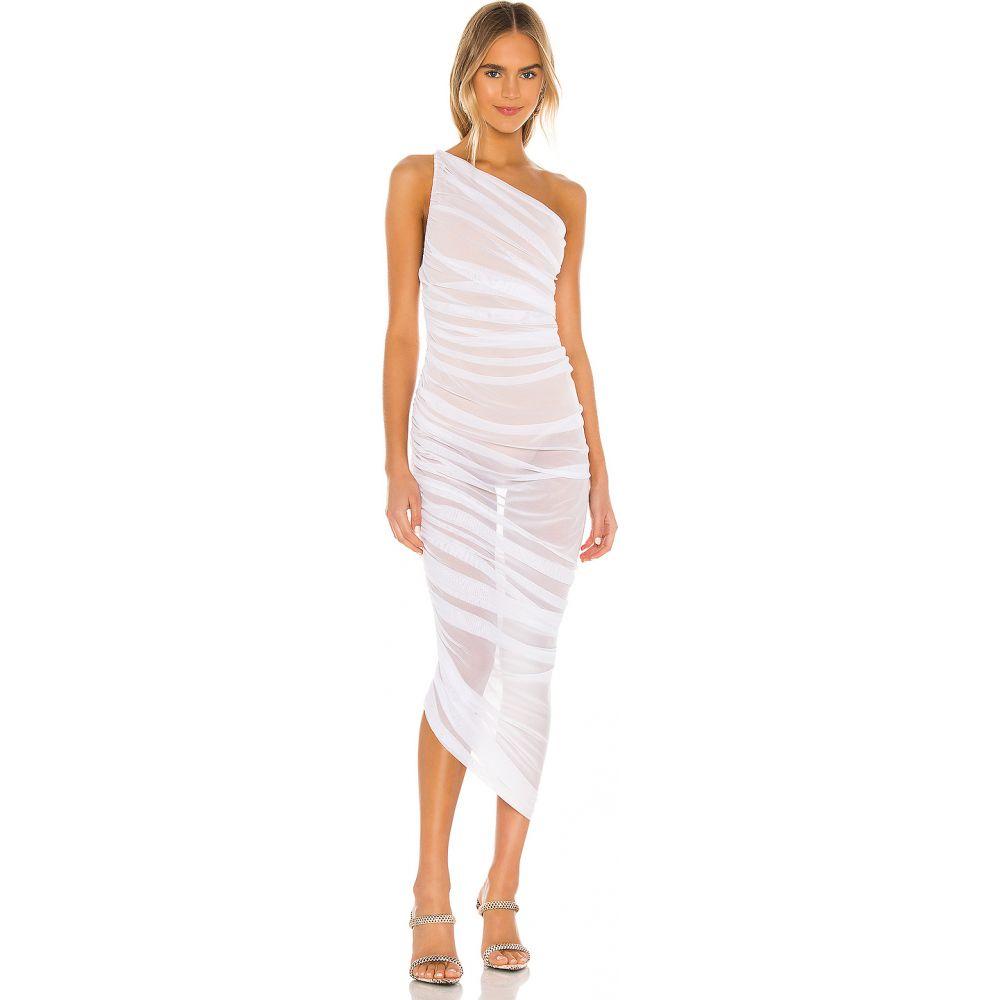 ノーマ カマリ Norma Kamali レディース パーティードレス ワンピース・ドレス【Diana Gown】White/Tan Mesh