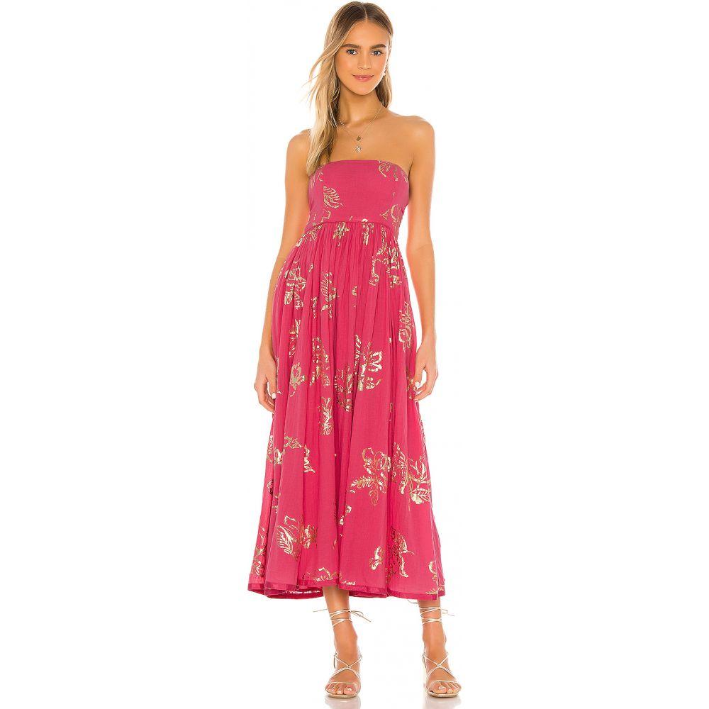 フリーピープル Free People レディース ワンピース ミドル丈 ワンピース・ドレス【Baja Babe Midi Dress】Hot Pink Combo
