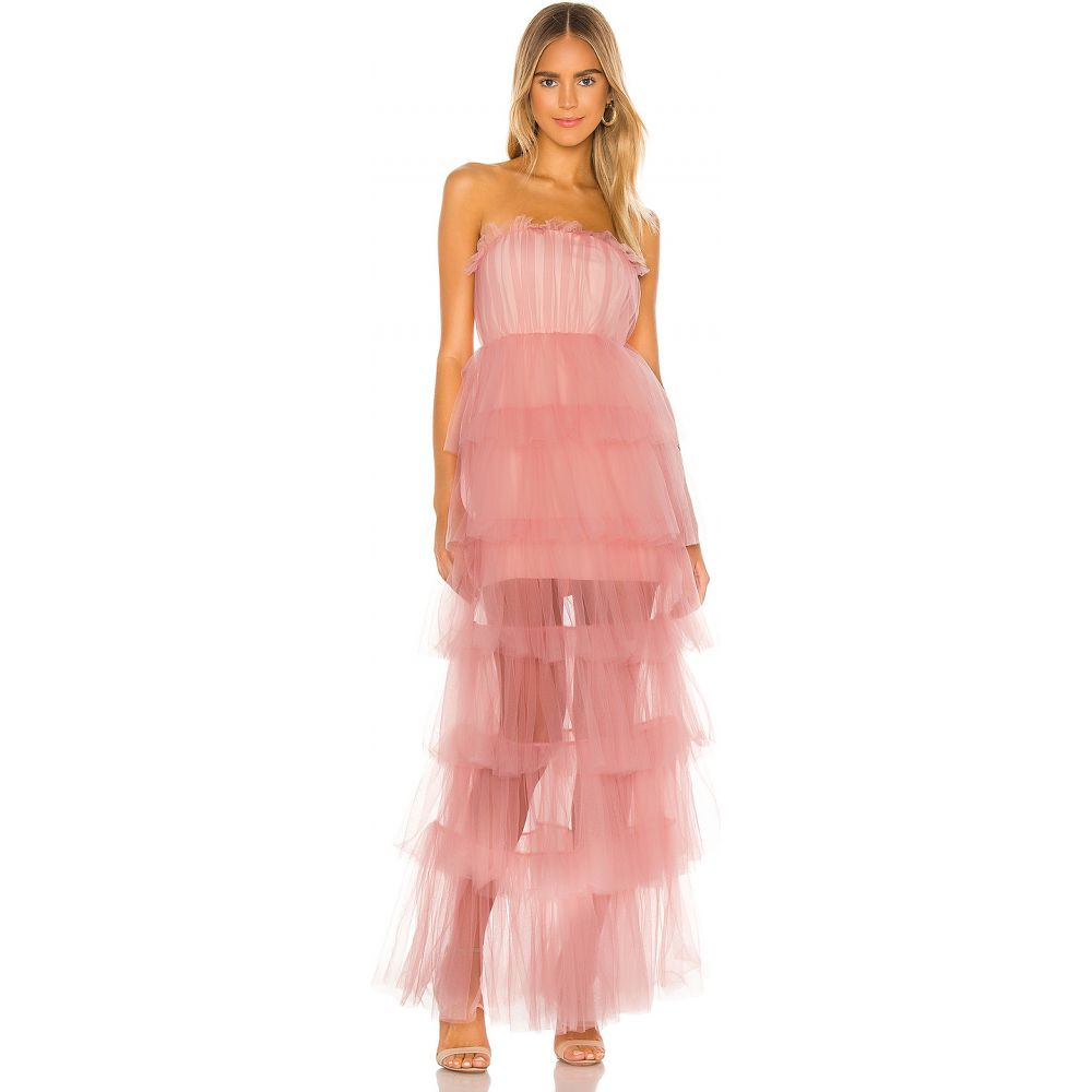 ラヴァーズフレンズ Lovers + Friends レディース パーティードレス ワンピース・ドレス【Bobbit Gown】Blush Pink