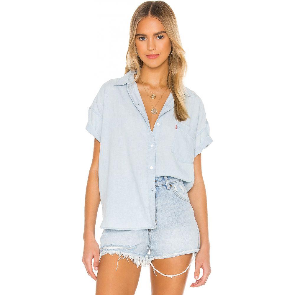 リーバイス LEVI'S レディース ブラウス・シャツ トップス【The Short Sleeve Alexandra Shirt】Light Mid Wash CL