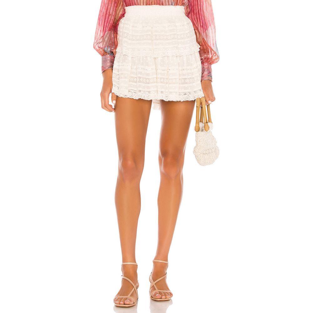 ラブシャックファンシー LoveShackFancy レディース ミニスカート スカート【Ruffle Mini Skirt】White