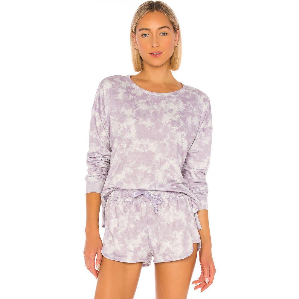 オンジー onzie レディース スウェット・トレーナー トップス【High Low Sweater】Lavender Acid Wash