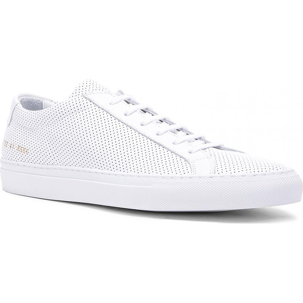 コモン プロジェクト Common Projects メンズ スニーカー シューズ・靴【Original Perforated Leather Achilles Low】White