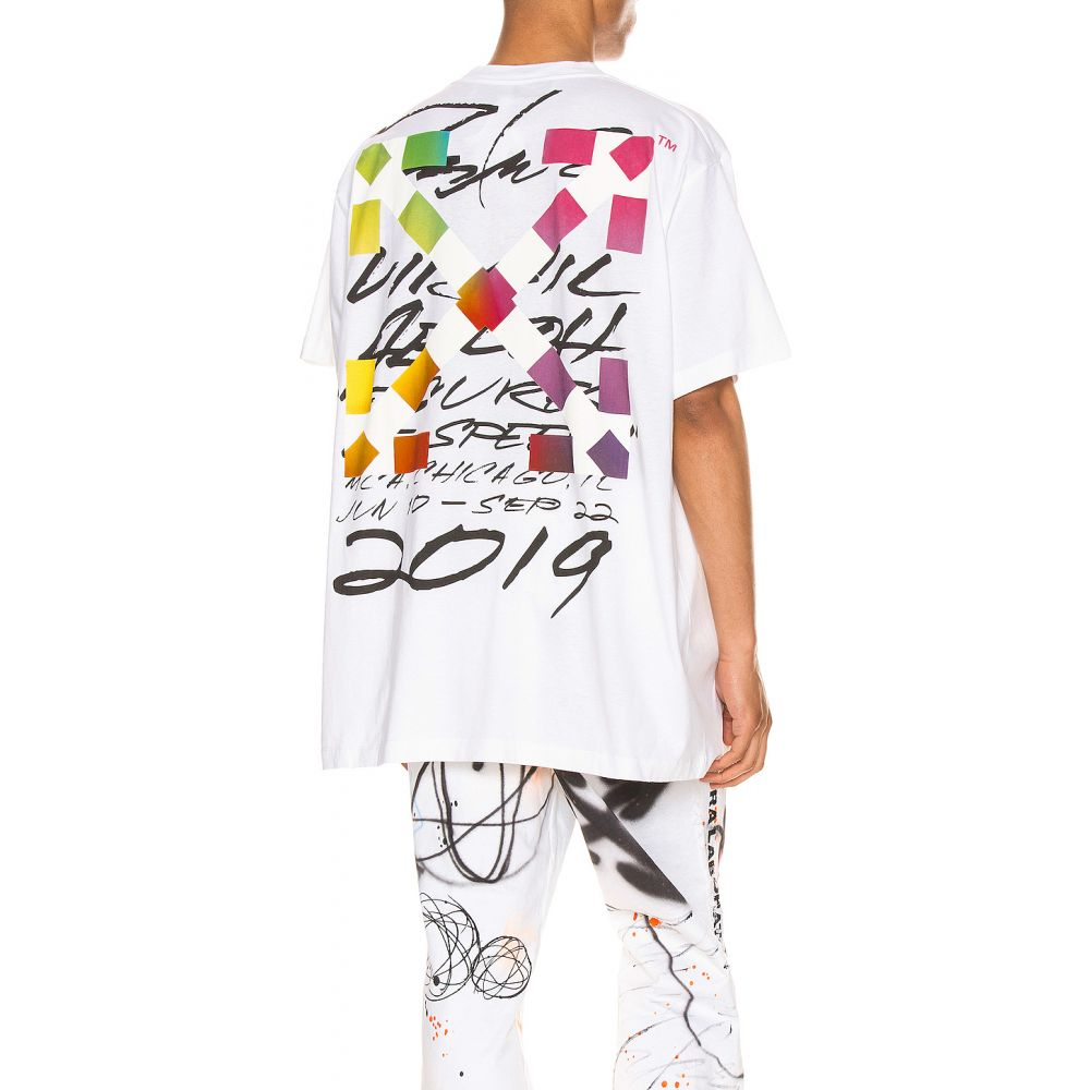 オフホワイト OFF-WHITE メンズ Tシャツ トップス【Futura Alien Tee】White