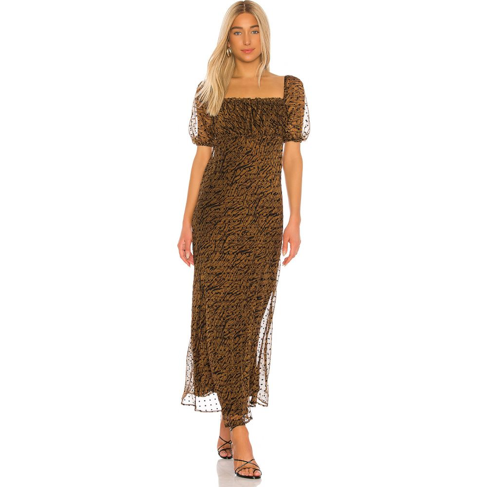 ハウスオブハーロウ1960 House of Harlow 1960 レディース ワンピース マキシ丈 ワンピース・ドレス【x REVOLVE Lennon Maxi Dress】Brown Multi