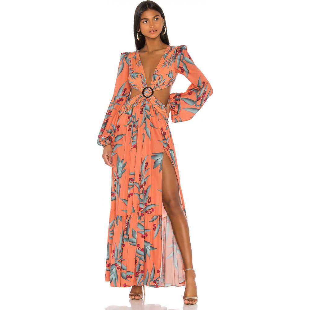 パットボー PatBO レディース ワンピース ワンピース・ドレス【Long Sleeve Cutout Dress】Heliconia Coral