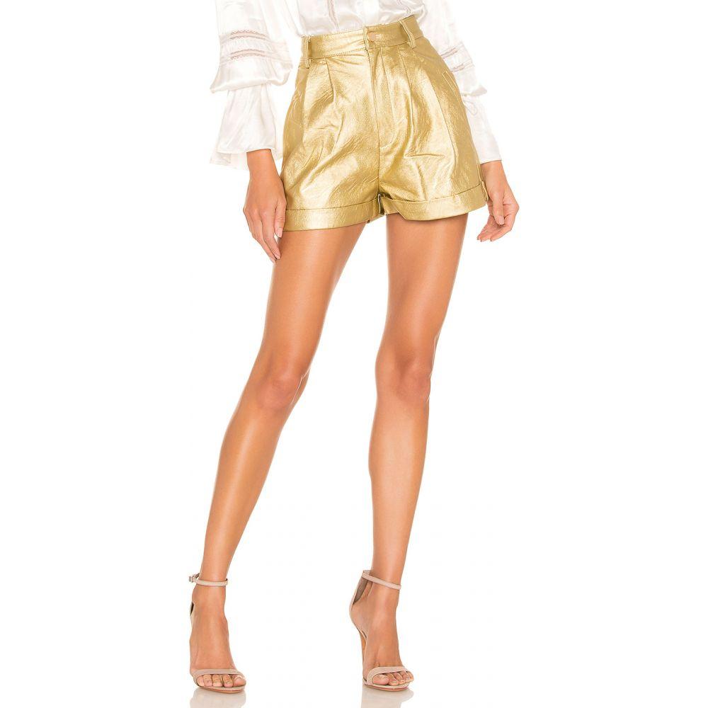 ディバイン ヘリテージ Divine Heritage レディース ショートパンツ ボトムス・パンツ【Faux Leather Proper Cuffed Short】Gold