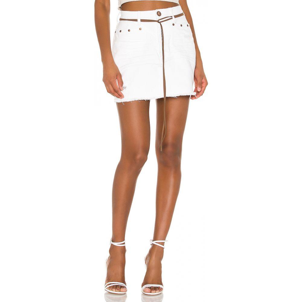 ワン ティースプーン One Teaspoon レディース ミニスカート スカート【Trucker Mid Waist Skirt】White Beauty