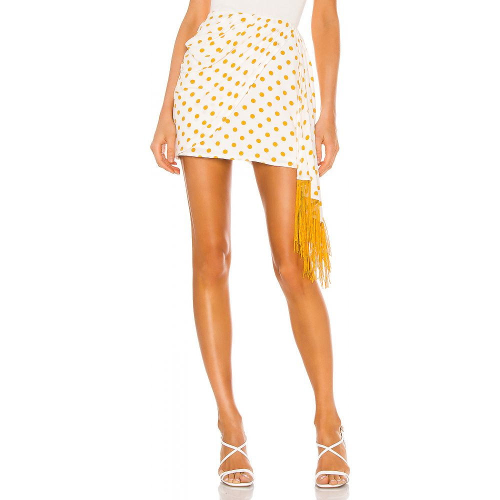 ハウスオブハーロウ1960 House of Harlow 1960 レディース スカート 【x REVOLVE Caterina Skirt】White/Copper Dot