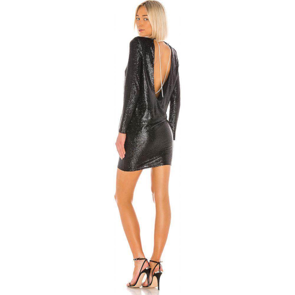 ミシェル メイソン Michelle Mason レディース ワンピース ミニ丈 ワンピース・ドレス【Long Sleeve Mini Dress with Crystals】Black