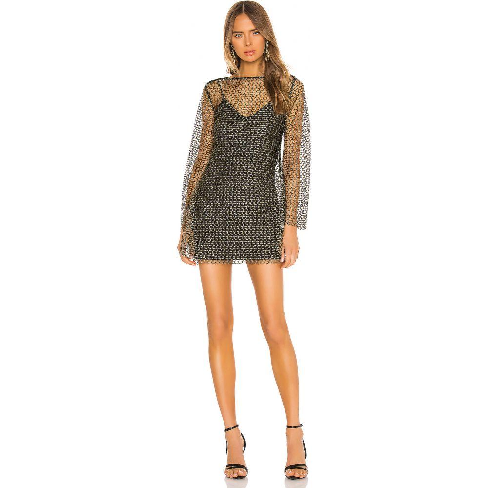 カミラ コエーリョ Camila Coelho レディース ワンピース ミニ丈 ワンピース・ドレス【Shay Mini Dress】Black and Gold