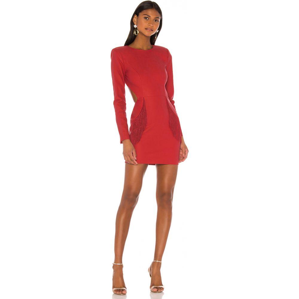 エヌビーディー NBD レディース ワンピース ミニ丈 ワンピース・ドレス【Dionne Mini Dress】Rhubarb Red
