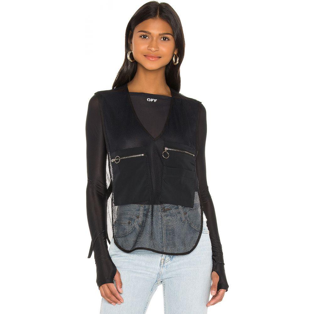 オフホワイト OFF-WHITE レディース ベスト・ジレ トップス【Oversize Pockets Gilet Vest】Black