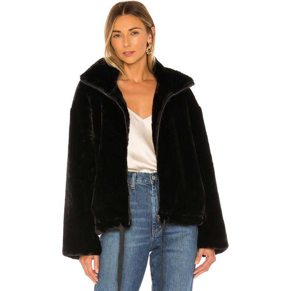 レベッカ ミンコフ Rebecca Minkoff レディース ジャケット アウター【Faux Fur Brigit Jacket】Black