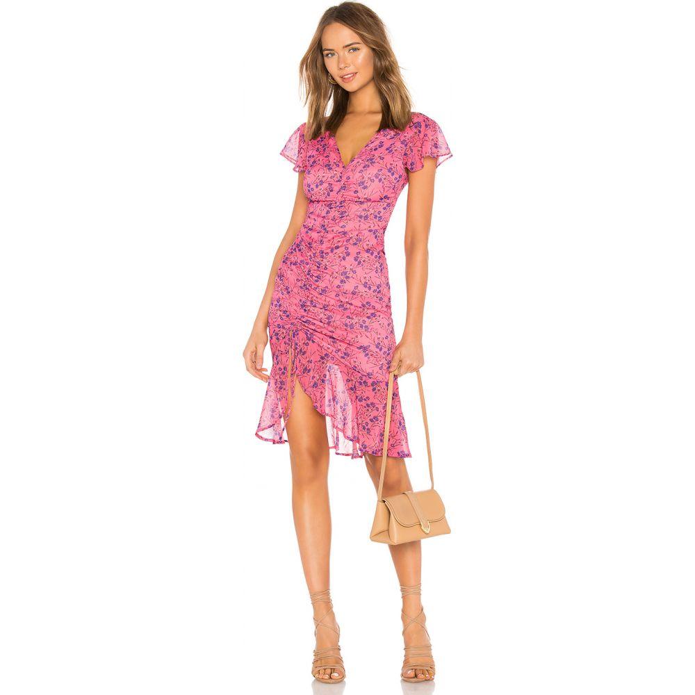 マジョレル MAJORELLE レディース ワンピース ミドル丈 ワンピース・ドレス【Elaine Midi Dress】Pink Baybreeze