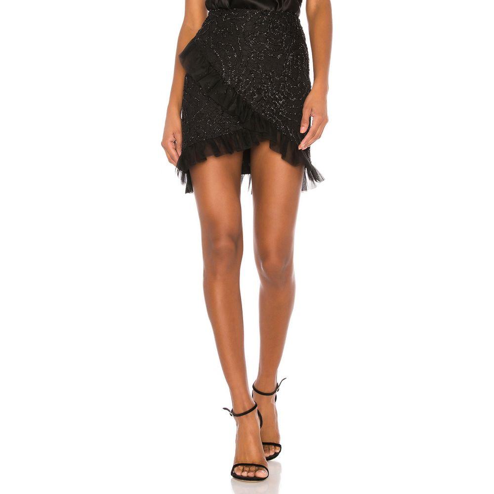 カミラ コエーリョ Camila Coelho レディース ミニスカート スカート【Aletzia Ruffle Mini Skirt】Black