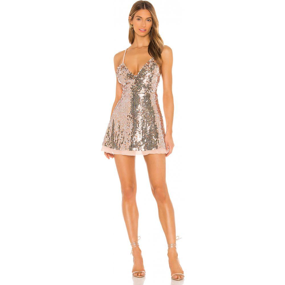 エヌビーディー NBD レディース ワンピース ワンピース・ドレス【3am In La Dress】Silver/Rose Gold