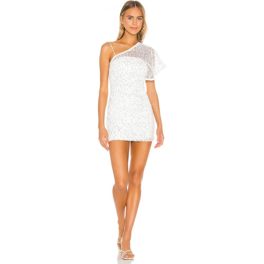 エヌビーディー NBD レディース ワンピース ミニ丈 ワンピース・ドレス【Ibiza Mini Dress】White/Silver