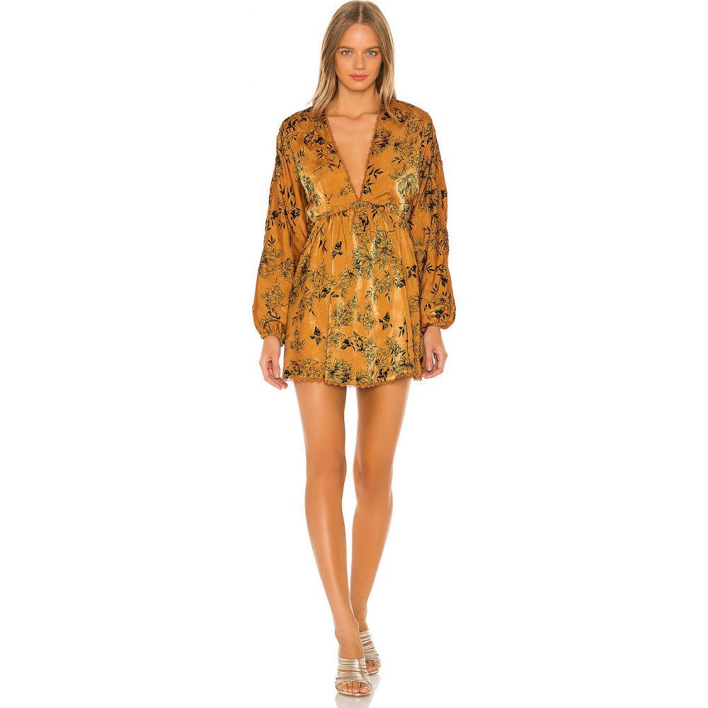 ハウスオブハーロウ1960 House of Harlow 1960 レディース ワンピース ワンピース・ドレス【X REVOLVE Edwin Dress】Copper Floral