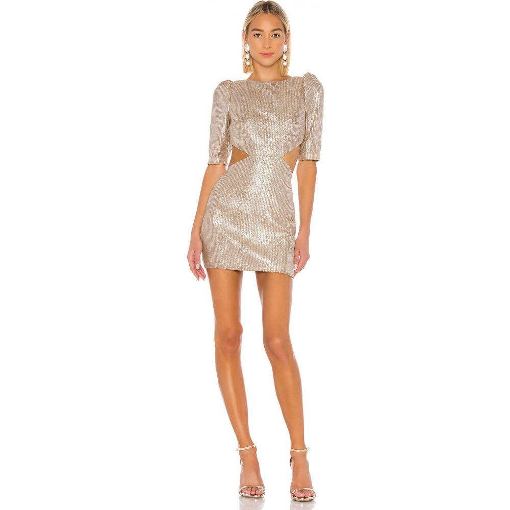 カミラ コエーリョ Camila Coelho レディース ワンピース ミニ丈 ワンピース・ドレス【Bailey Mini Dress】Metallic Nude
