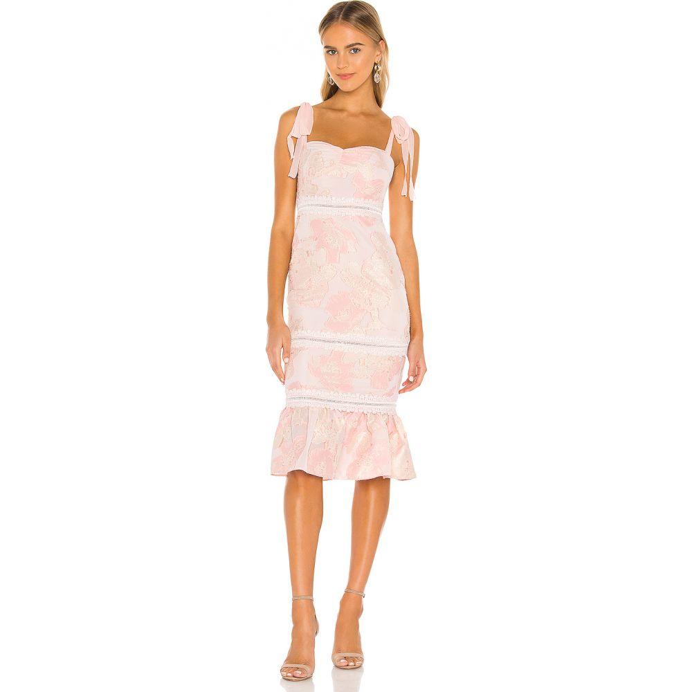 エヌビーディー NBD レディース ワンピース ミドル丈 ワンピース・ドレス【Regina Midi Dress】Nude Pink