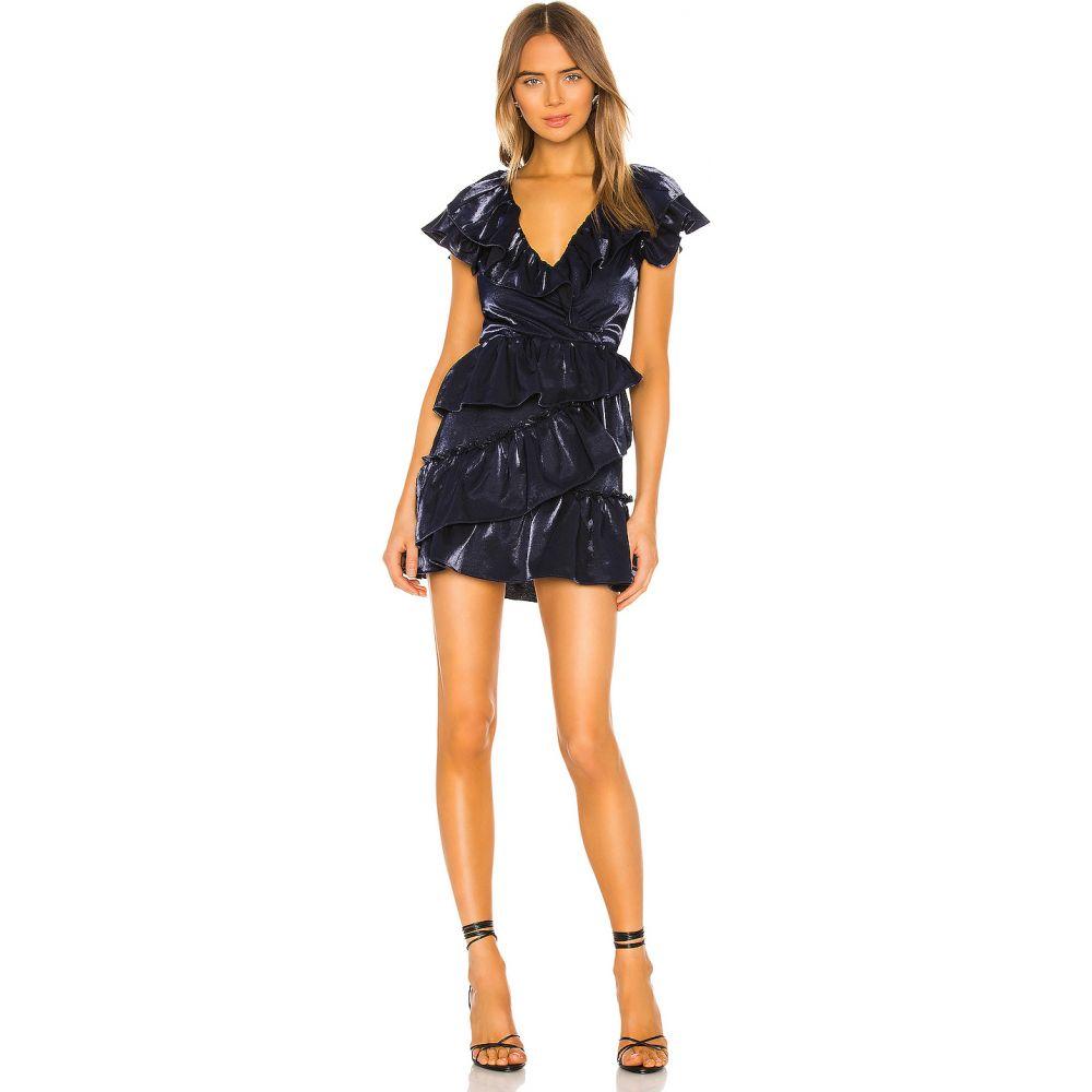 ラヴァーズフレンズ Lovers + Friends レディース ワンピース ミニ丈 ワンピース・ドレス【Surrey Mini Dress】Indigo Blue