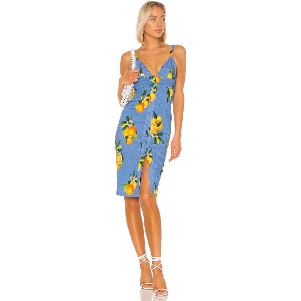 プライバシー プリーズ Privacy Please レディース ワンピース ミドル丈 ワンピース・ドレス【Lantana Midi Dress】Sky Blue Citrus