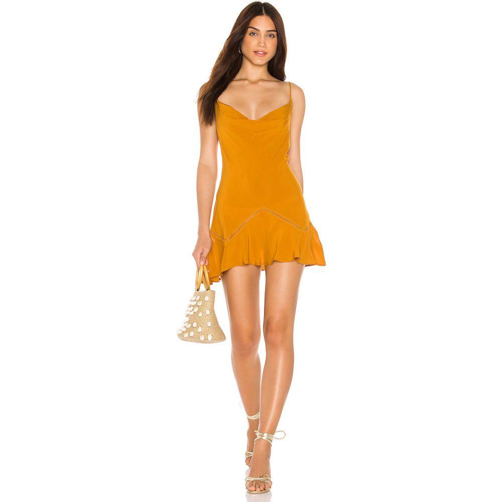 フリーピープル Free People レディース ワンピース ミニ丈 ワンピース・ドレス【Forever Fields Mini Dress】Gold