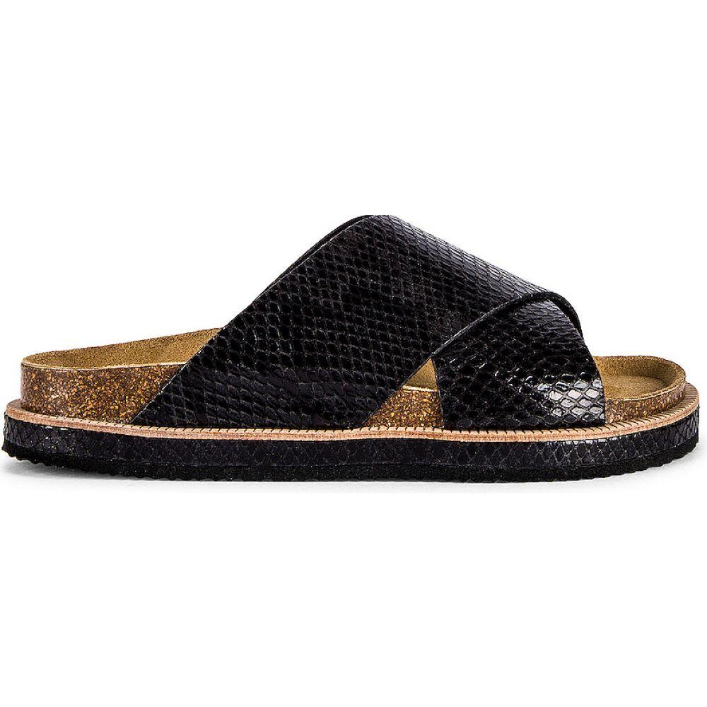 シューズ・靴【Sidelines サンダル・ミュール People Free Footbed フリーピープル レディース Sandals】Black