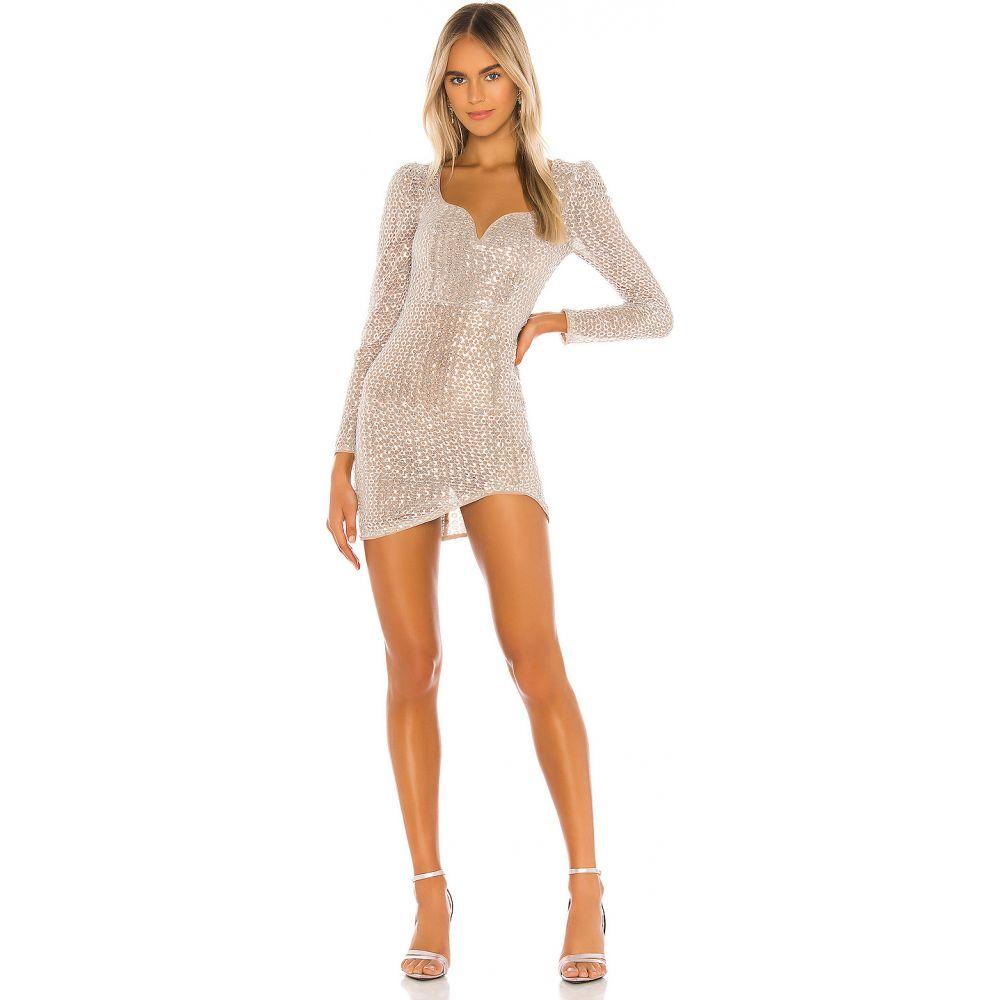 カミラ コエーリョ Camila Coelho レディース ワンピース ミニ丈 ワンピース・ドレス【Thalia Mini Dress】Silver