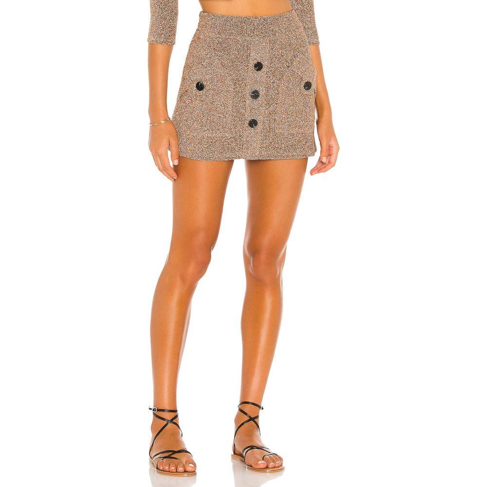 デヴォン ウィンザー DEVON WINDSOR レディース スカート 【Piper Skirt】Gold