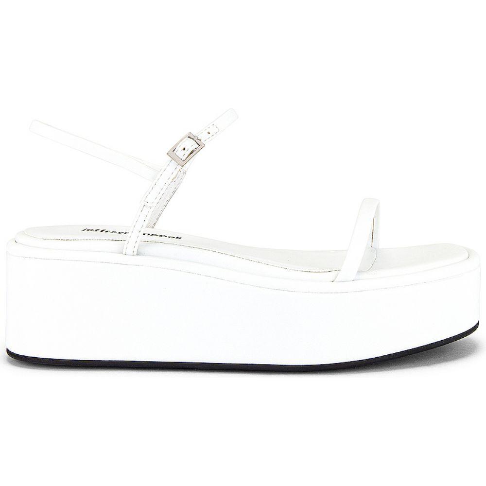 サンダル・ミュール シューズ・靴【Apresmidi Flatform Jeffrey Campbell Leather キャンベル レディース Sandal】White ジェフリー