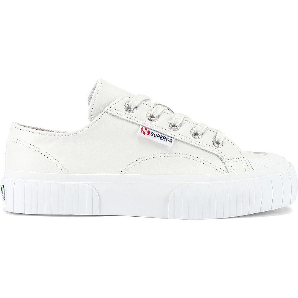 スペルガ レディース シューズ 靴 スニーカー White ラッピング無料 2630 Superga Sneaker Leather 年中無休 サイズ交換無料 COWNAPPAU