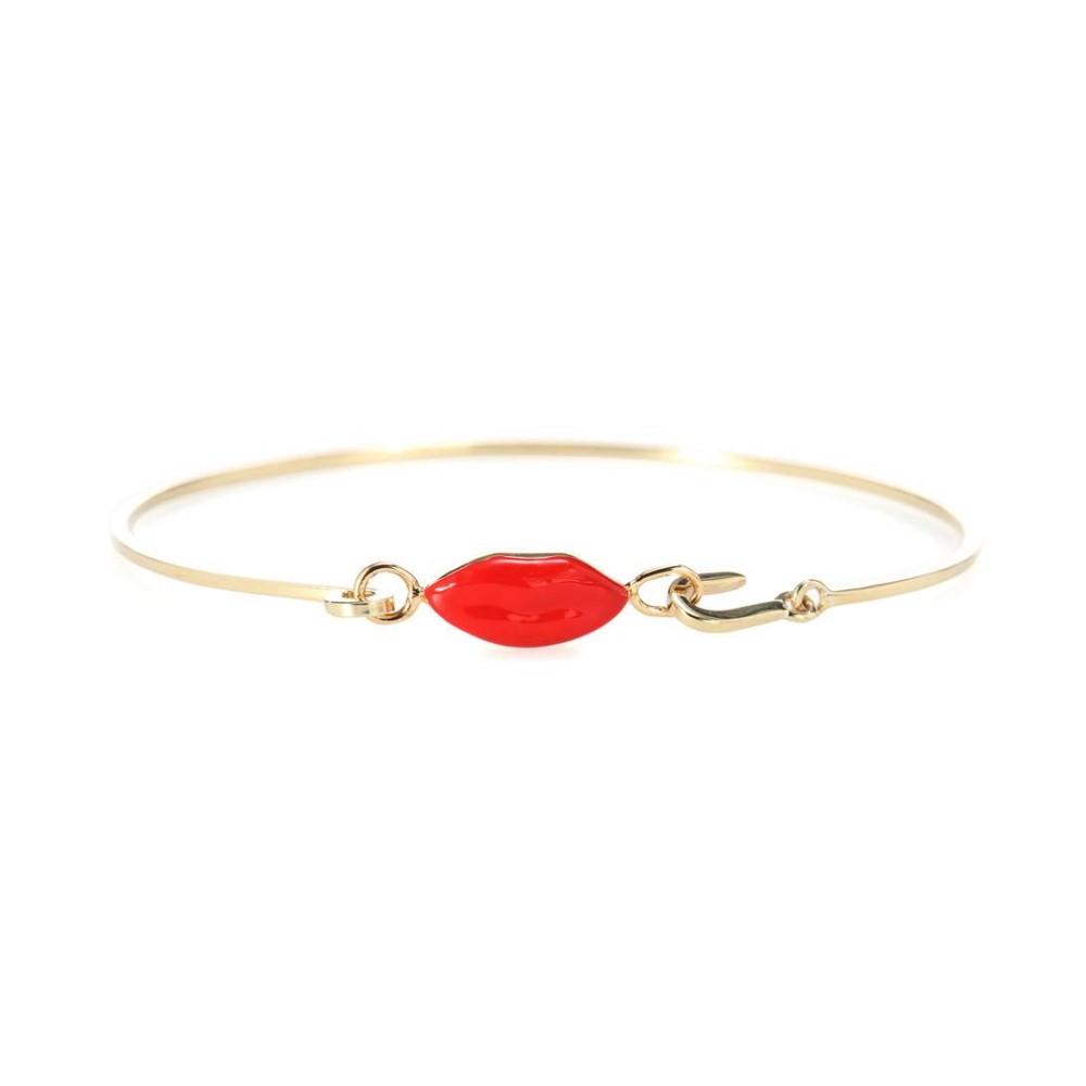 デルフィナ デレトレズ Delfina Delettrez レディース アクセサリー ブレスレット【Grandma Lips 9kt gold-plated bracelet】