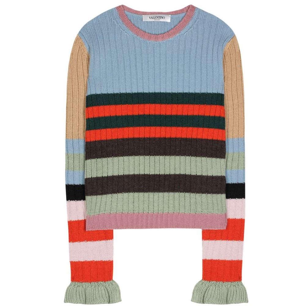 ヴァレンティノ Valentino レディース トップス ニット・セーター【Striped wool sweater】
