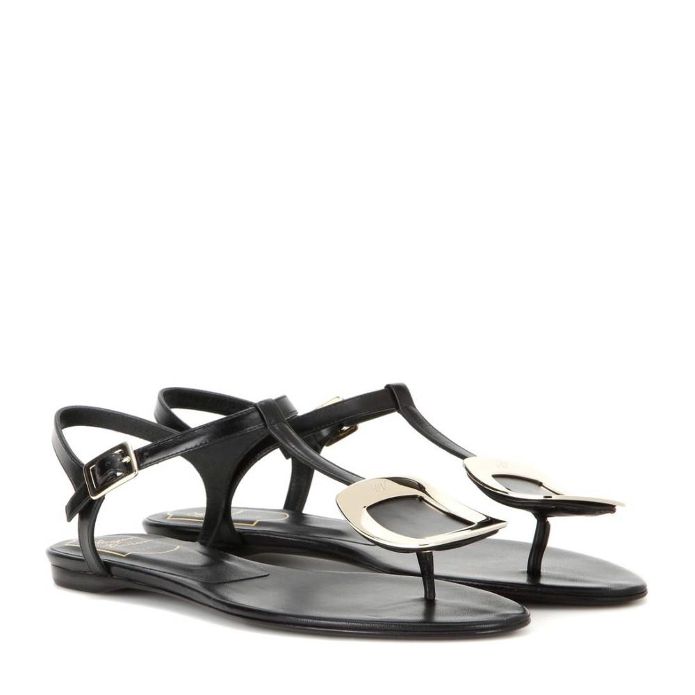 ロジェ ヴィヴィエ レディース シューズ・靴 サンダル・ミュール【Thong Chips embellished leather sandals】