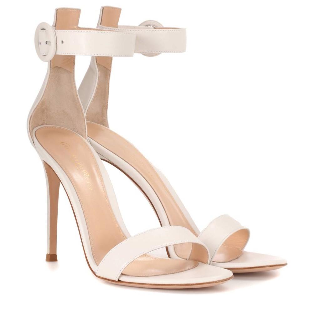ジャンヴィト ロッシ レディース シューズ・靴 サンダル・ミュール【Portofino 105 leather sandals】Offwhite
