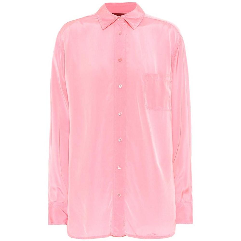 シエス マルジャン レディース トップス ブラウス・シャツ【Button-down shirt】Milky Coral