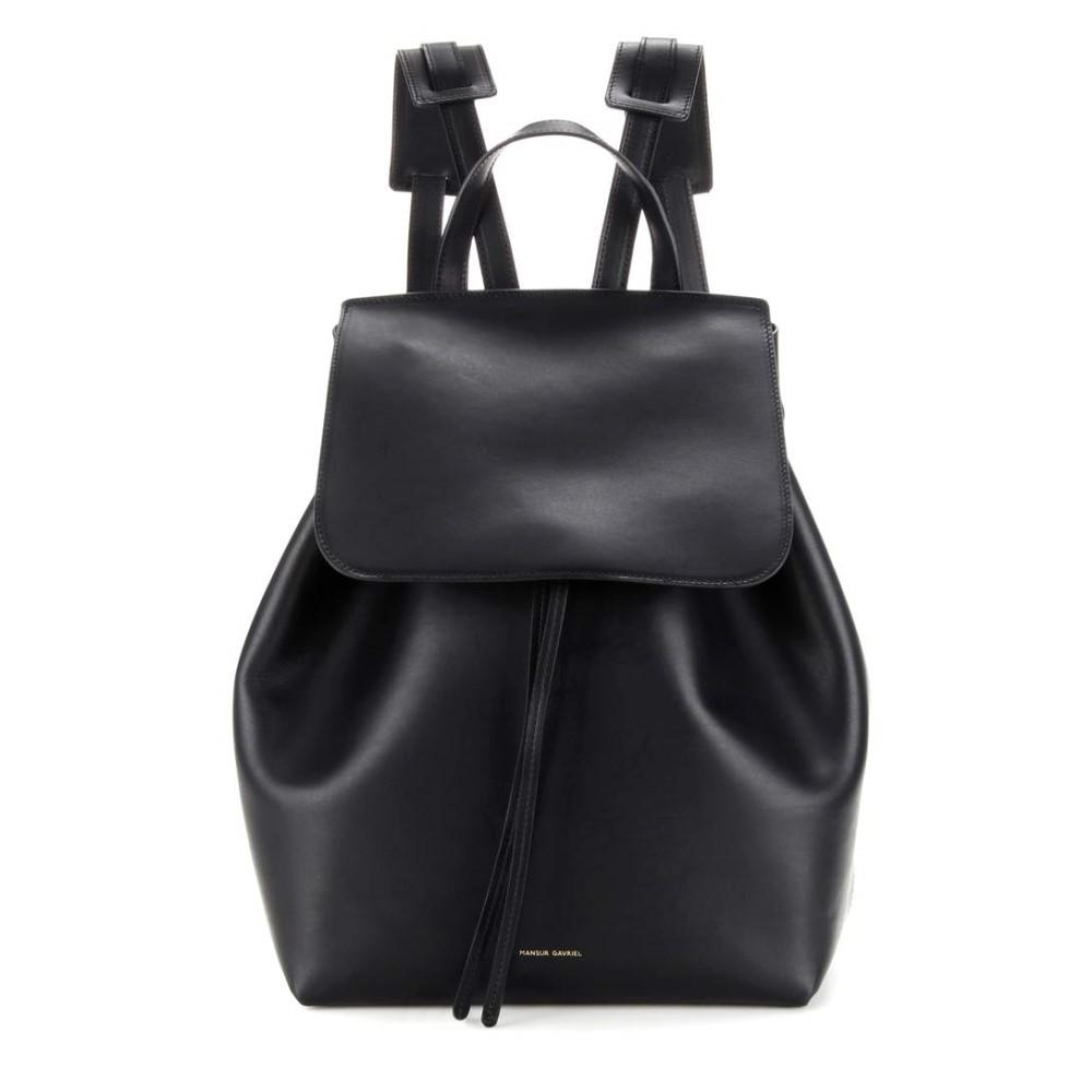 マンサーガブリエル レディース バッグ バックパック・リュック【Leather backpack】Black-Raw