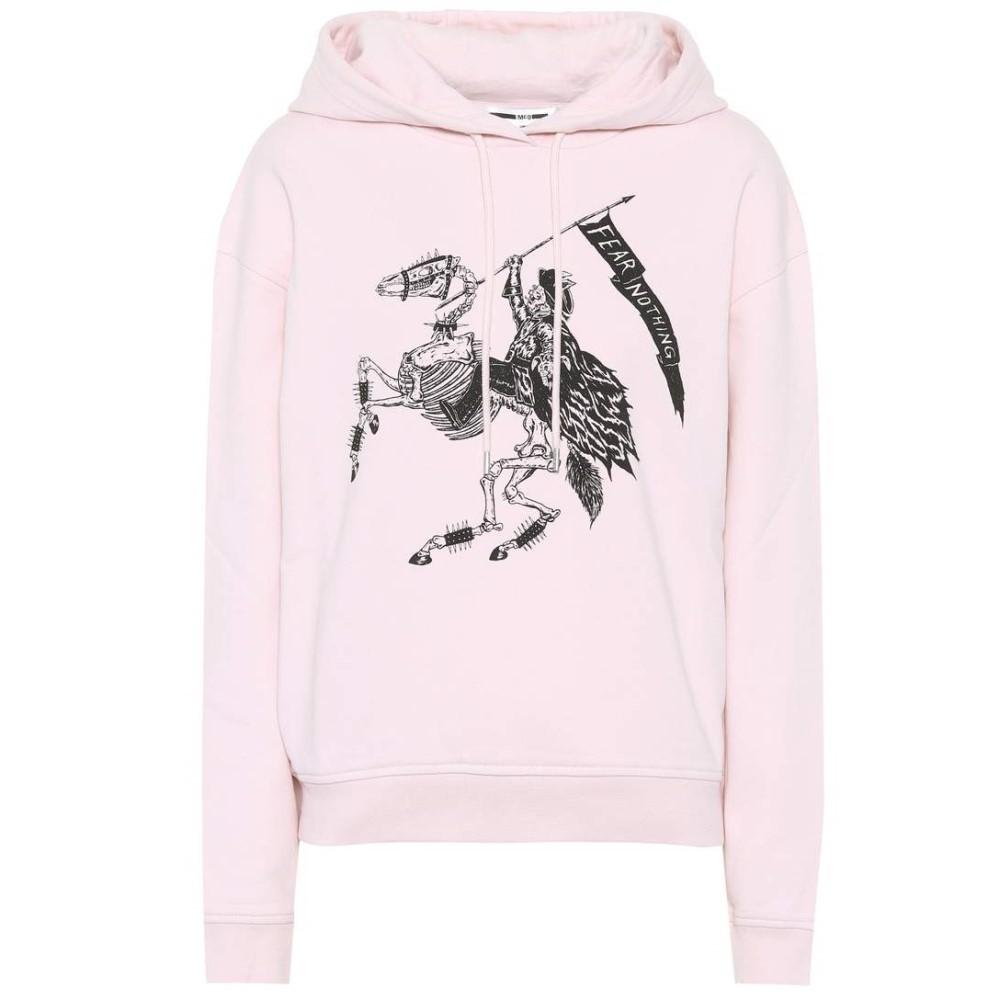 アレキサンダー マックイーン レディース トップス パーカー【Fear Nothing cotton hoodie】Photocopy Pink