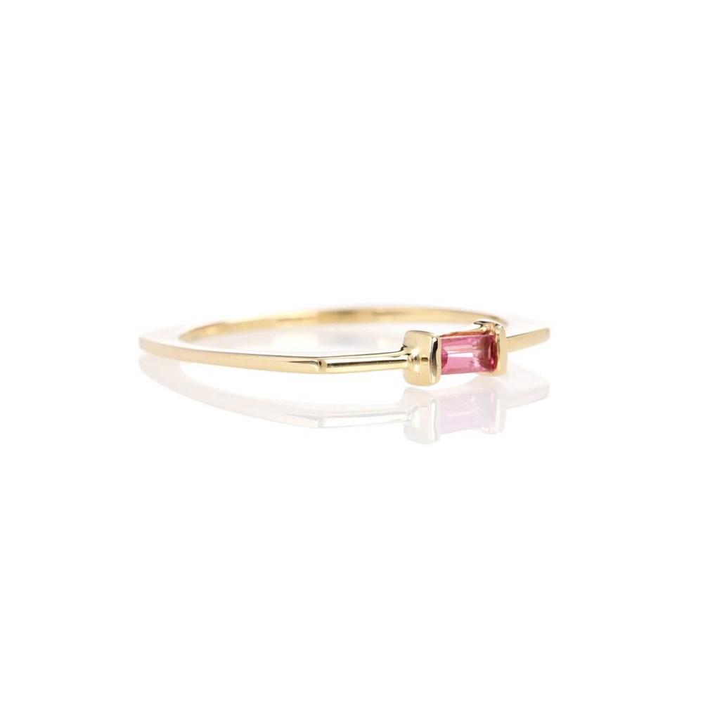 アリータ レディース ジュエリー・アクセサリー 指輪・リング【Aro Baguette 9kt gold and pink tourmaline ring】
