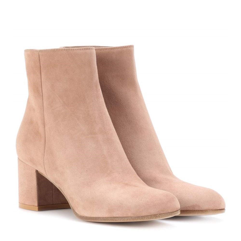 ジャンヴィト ロッシ レディース シューズ・靴 ブーツ【Margaux Mid suede ankle boots】Praline