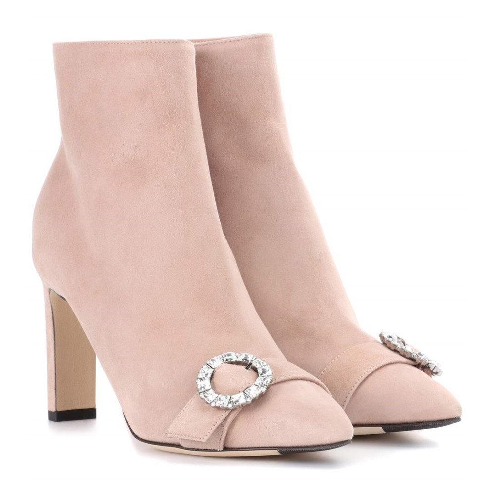 ジミー チュウ レディース シューズ・靴 ブーツ【Hanover 85 suede ankle boots】Ballet Pink