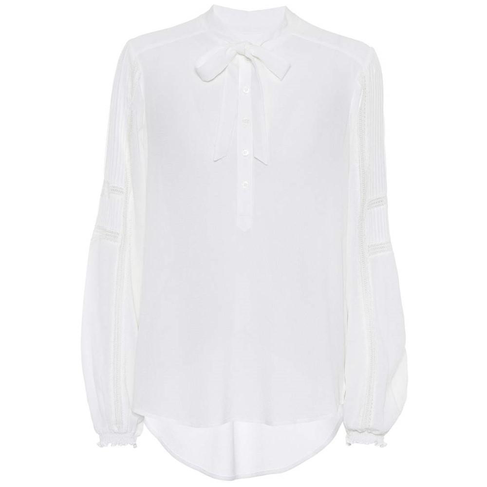 ヴェロニカ ベアード レディース トップス ブラウス・シャツ【Thayer crepe blouse】White