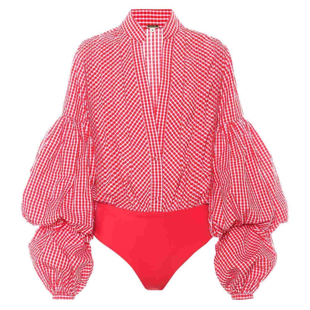 ジョアンナオッティ レディース インナー・下着 ボディースーツ【Jicarilla gingham poplin bodysuit】Chili Red